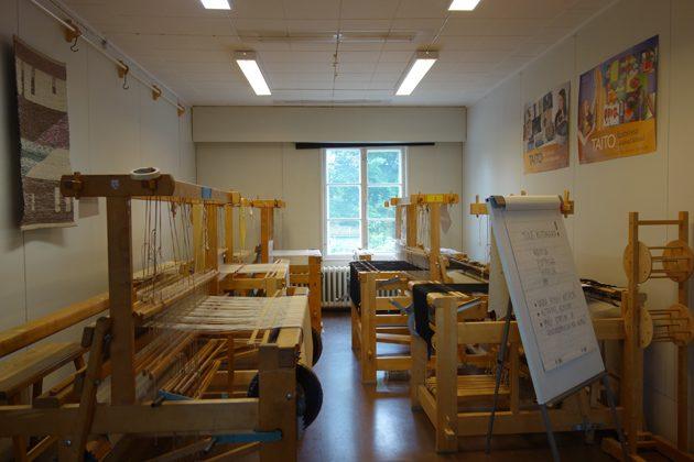 サーリヤルヴィの手工芸センターの室内