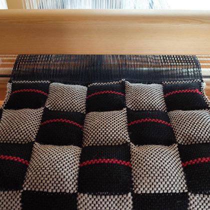 二重織りのシートクッション