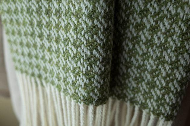 8枚綜絖の変化綾織のマフラー