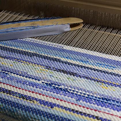 裂き織りマット